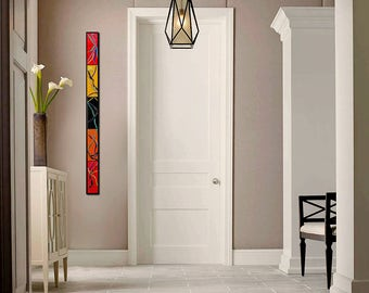 4 FT Home Decor. Abstract Wall Art. Fused Glass Wall Art. Made to Order. Zen Art. Wall Decor. Vertical Wall Art. Horizontal Living Room Art.