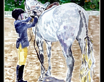 St. Clements Horse Show 16x20 Double Matted Decorative Print