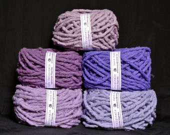 Hand dyed cotton Rug Yarn Colors: Wisteria, Purple or Iris