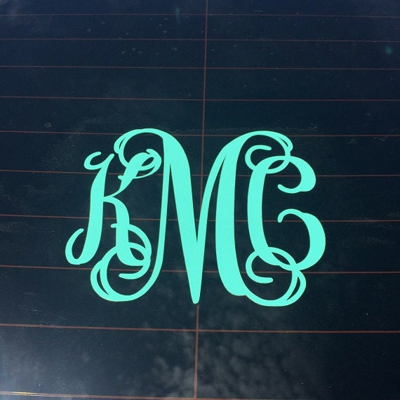 5 inch monogram decal custom vinyl decal monogram car