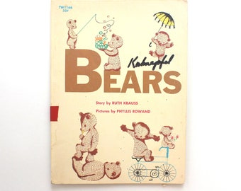 1971 Bears (Are Silly) Softcover Childrens Book