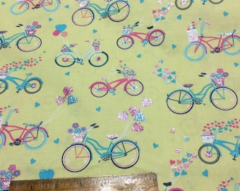 SWEET Bicycle Print Fabric