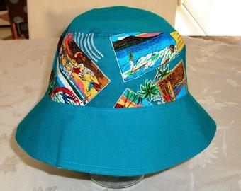 Adult Bucket Hat - Bucket Hat - Reversible Bucket Hat - Cotton Hat - Women's Hat - Sun Hat