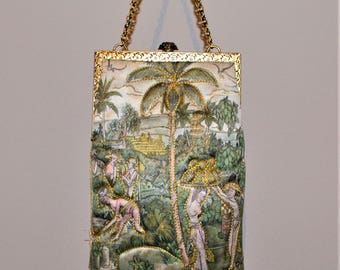 Vintage Purse Goddess Delill with Chain
