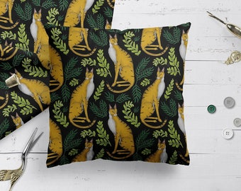 Jungle cat cushion