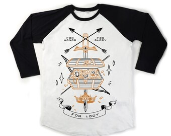 For Loot Screenprint Baseball T-shirts - unisex - ethically sourced - fairtrade