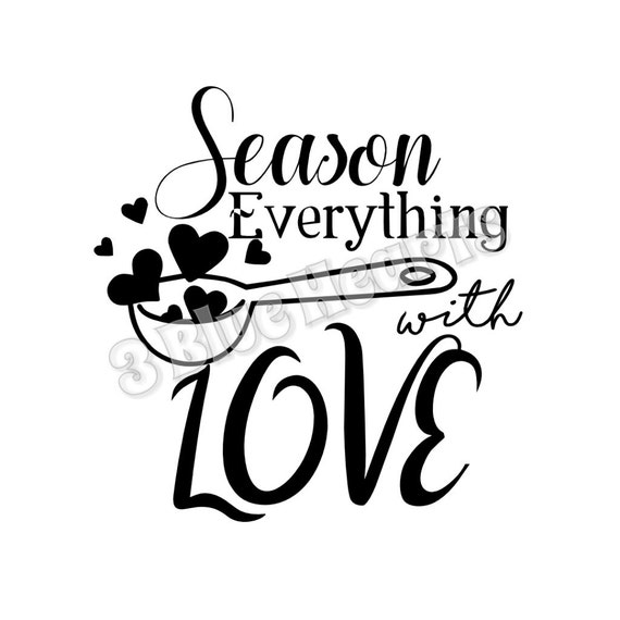 Pot Holder Svg: Season Everything With Love SVG Dxf Studio Cutting Board SVG