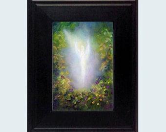 Angel Print, Guardian Angel Print, Framed Print, Spiritual Gift, Angel Gift, Healing Angel