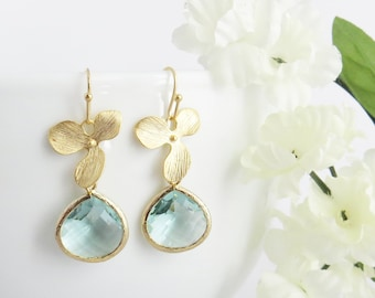 Aquamarine Earrings, Aquamarine Birthstone, Aquamarine Jewelry, March Birthstone, Mother's Day Gift, Gift for Mom, Bridesmaid Earrings