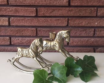 Vintage Brass Rocking Horses