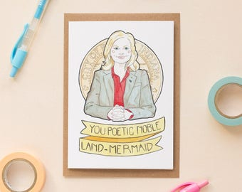 Leslie Knope / Parks & Rec, Galentine's Day Card, Galentine's Card, Feminist Card, Best Friend Card, Nerdy Birthday Cards, Ann Perkins