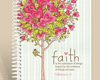 Faith Defined - Hebrews 11:1 / Prayer Journal Personalized