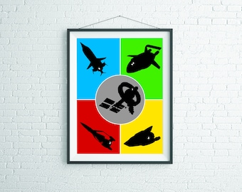 Original Design Thunderbirds Print