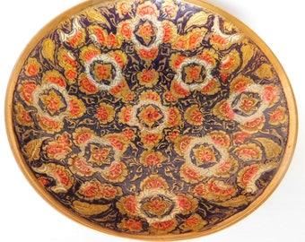 Vintage Brass Cloisonne Dish Decorative Bowl