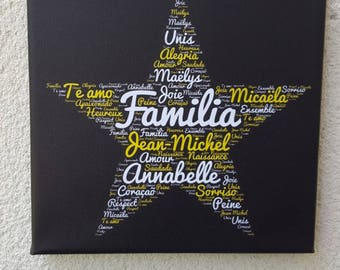 Personalized family canvas with the words of your choice!