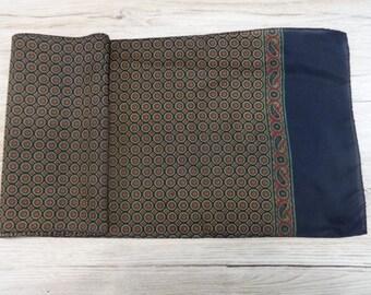 "Vintage Mens paisley scarf 152cm x 26cm / 59.8"" x 10.2"""
