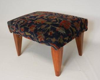 Kashan Carpet Footstool
