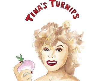 Tina's Turnips Greeting Card