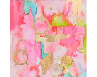 Pink Abstract Print-Fine Art Print-Giclee Print-Wall Art-Abstract Painting-Home Decor