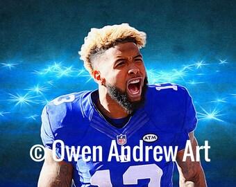 Odell Beckham Jr Canvas / Wall Art / Digital Art