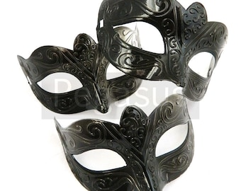 BLACK classic mask (2 package option)(M2) Ballroom masquerade mask for a Mardi Gras, Halloween,Wedding,Prom,New Years,phantom of the opera