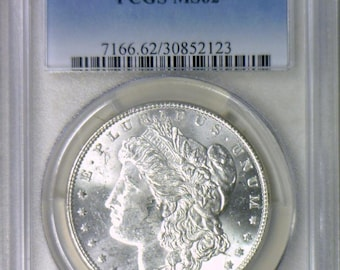 1886 Morgan Dollar PCGS MS-62; Clashed Vam-6A; Frosty White