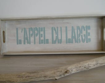 Long tray wood sign stencil and rough