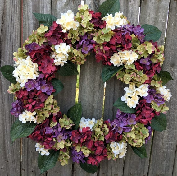 Hydrangea Wreath Wreath Great for All Year Round Everyday
