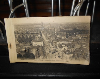 1920s Antique French Postcard Album with Black and White Postcards from Paris