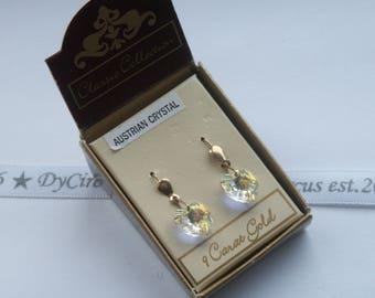 9ct gold Rainbow Crystal Hearts
