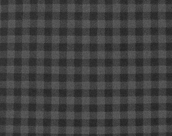 Andie Hanna's Burly Beavers Flannel Plaid  on Grey for Robert Kaufman Fabrics - FLANNEL- Yard