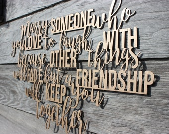 FREE SHIPPING!!! Marry Someone Metal Wall Decor