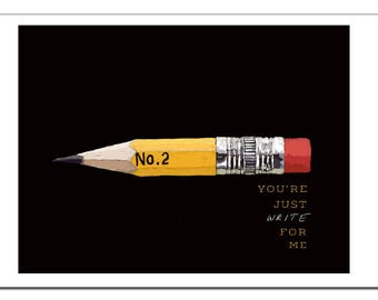 You're Just Write For Me Illustration-Pop Art Print