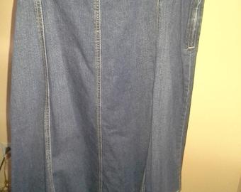 Women's Blue jean skirt by Liz & Co.