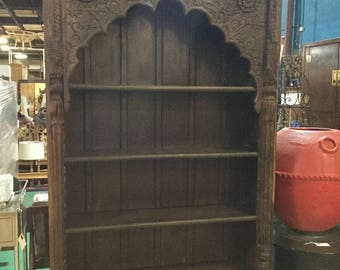 Late 19th Century Northern India Book shelf with 2 bottom drawers in Elmwood