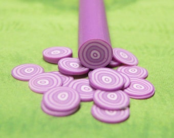 Onion polymer clay cane vegetable red onion uncut 1pc for miniature foods decoden and nail art supplies