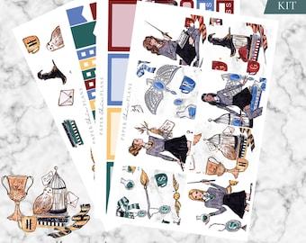 MINI KIT - 'Hogwarts' // Erin Condren Planner Sticker Kit - MATTE