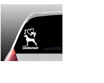 I Love My Weimaraner/Weimaraners Car Window Decal