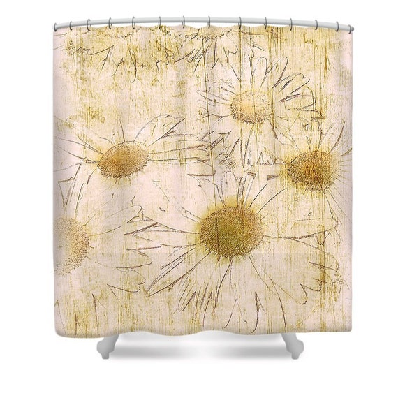 Rustikale Gänseblümchen Blume Dusche Vorhang Floral Bad
