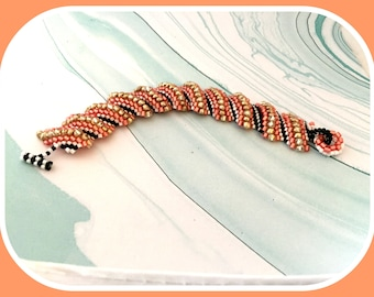 Love Is Here Peyote Flat Spiral Stitch Bracelet