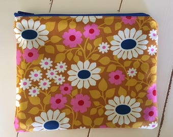 Floral Zipper Pouch Coin Purse Valentines Gift Make up bag Purse Organizer School Cosmetic bag pencil pouch
