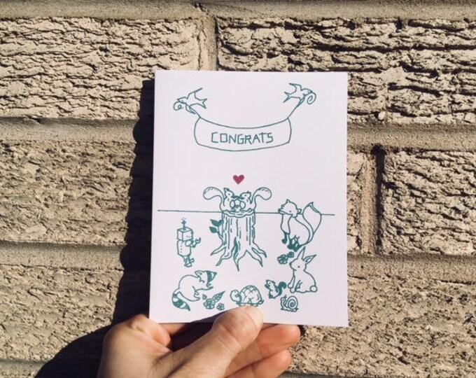 Wedding Card - Gocco - Woodland Wedding from PaperMichelle