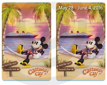 Castaway Hammock Disney Cruise Line MAGIC CARDS - Great Fish Extender Gift (fe gift) Disney Dream and Disney Fantasy DCL