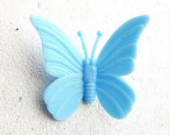 Vintage butterfly brooch (early plastic) #01