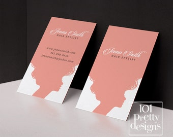 Custom hair stylist business cards professionally printed hair stylist business card template printable business card design pink business card hairdresser business cards appointment cheaphphosting