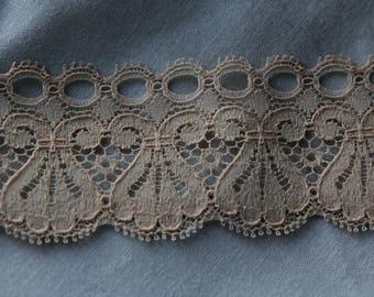 beige sheer lace 4 cm the meter