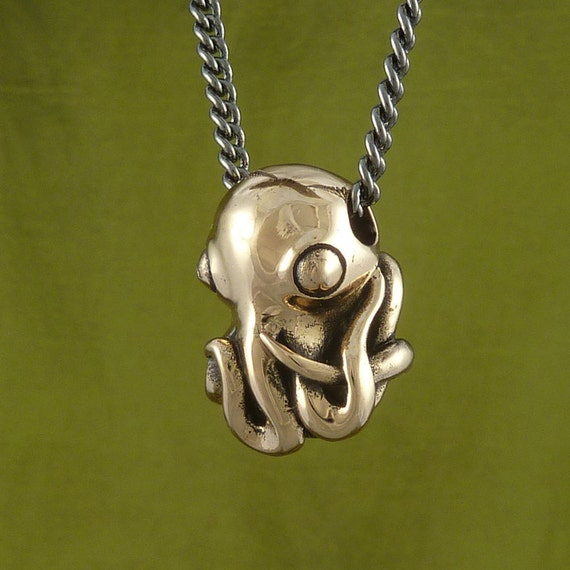 Octopus necklace bronze octopus pendant octopus jewelry like this item mozeypictures Choice Image