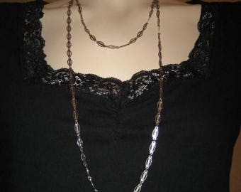 Park Lane Silver Tone Chain Link Necklace 60s Vintage