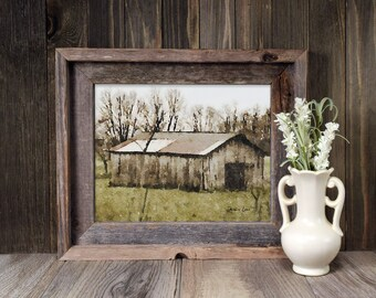 Barn No. 4 Watercolor Art Print, Midwest Barn, Farmhouse Wall Decor, Modern Farmhouse