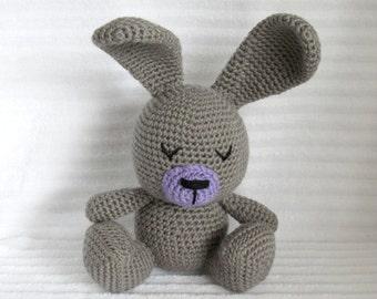 Crochet Bunny, Bunny Stuffed Animal, Crochet Stuffed Animal, Bunny Plush, Nursery Decor, Stuffed Bunny, Plush Animal, Stuffed Animal